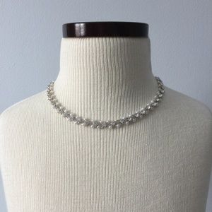 Claire's Rhinstone and Pearl Necklace